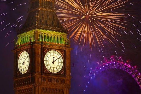 Happy New Year 2016 Eve Countdown London Pics