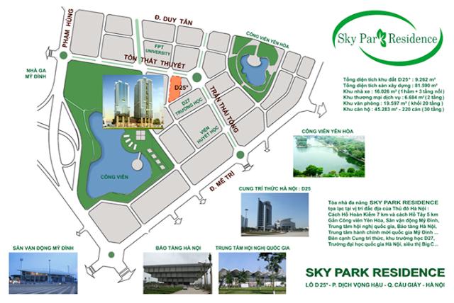 vtrí dự án Sky Park Residence Cầu Giấy