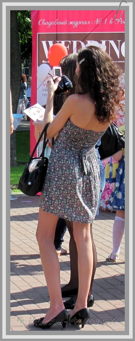 Moscow Girl in Summer Open Back Dress
