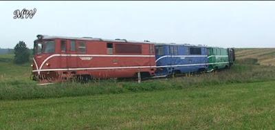 Trzy lokomotywy 705.9 na prywatnej linii wąskotorowej JHMD