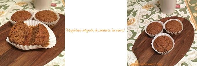 Magdalenas integrales de zanahoria (sin huevo)