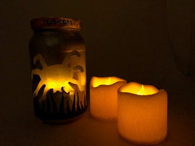 Spider themed Halloween lantern