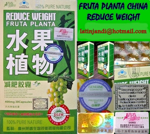 Pastillas chinas para adelgazar reduce weight fruta plantas