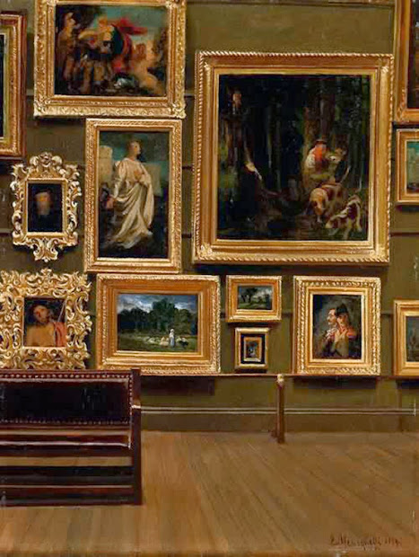 Gallery of the Louvre Samuel Morse Painting