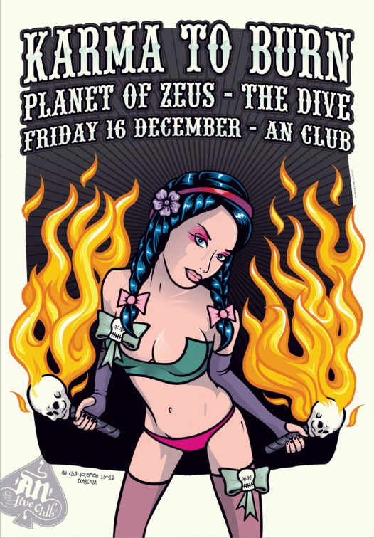[Live Report] Karma To Burn, Planet Of Zeus, The Dive @ Athens, 16/12/2011