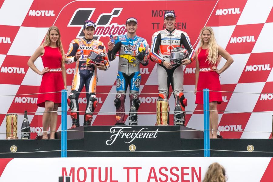 MotoGP 2016 Assen Netherland Marquez Jack Miller Redding Podium