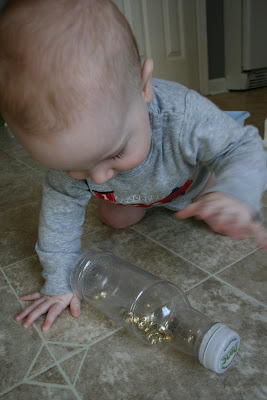 Montssori sensory bell bottle, Montessori baby activity