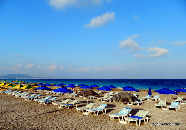 Praia de Psaropoula, Cidade de Rodes, Dodecaneso, Grécia