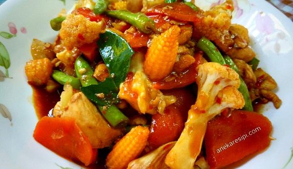 resepi ayam paprik ala Thai ringkas cepat sedap