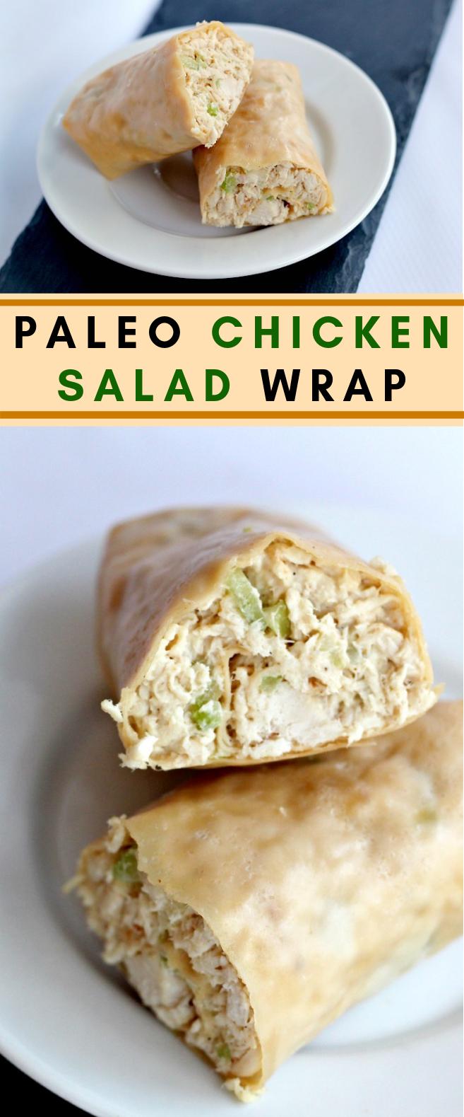 PALEO CHICKEN SALAD WRAPS #paleo #glutenfree