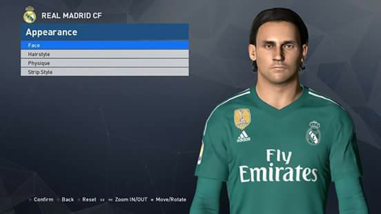 PES 2017 K. Navas Face by Ahmed Tattoo & Facemaker