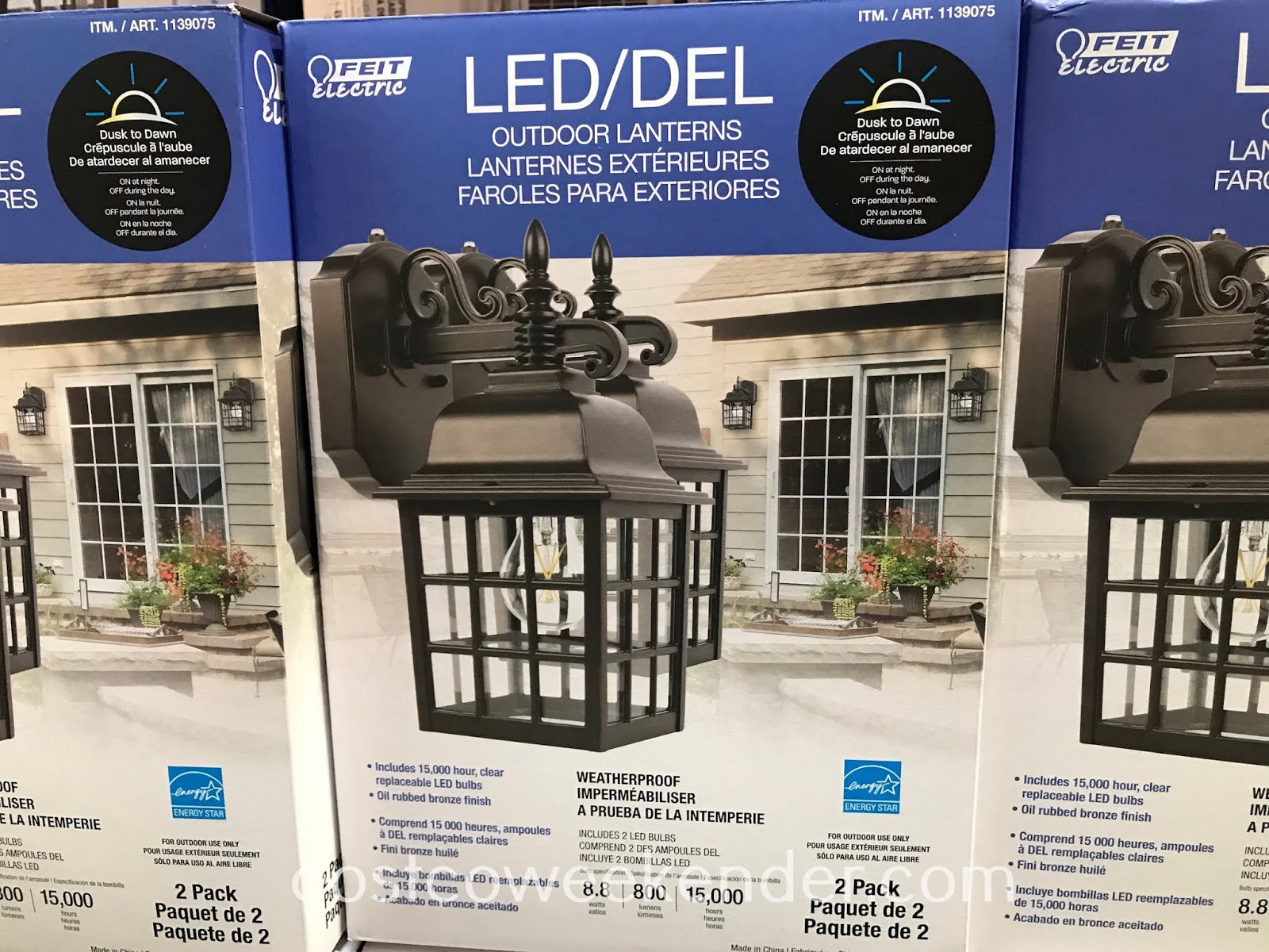 Illuminate your home's exterior with Feit LED Outdoor Coach Lanterns