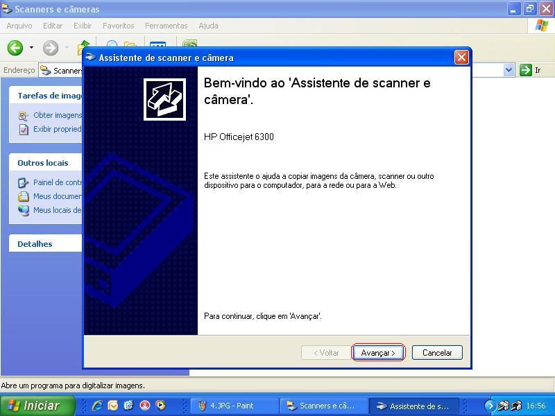 programa assistente de scanner e camera