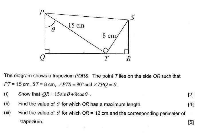 Paper 2 Q11  Trigonometry Challenging O Level Additional Maths (A