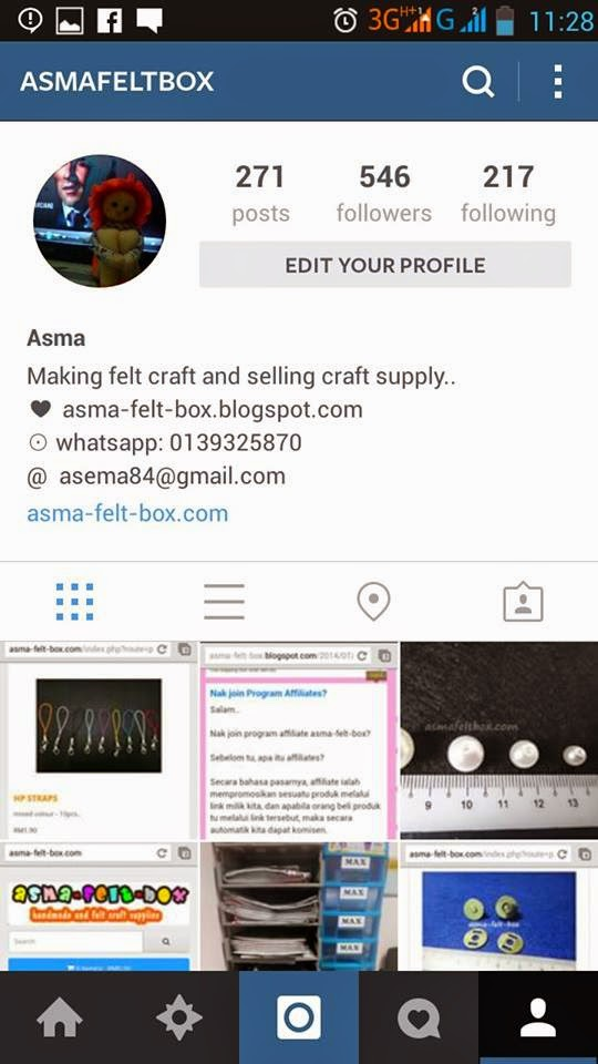 Follow My IG: asmafeltbox : Handmade and Craft Supply Online Shop