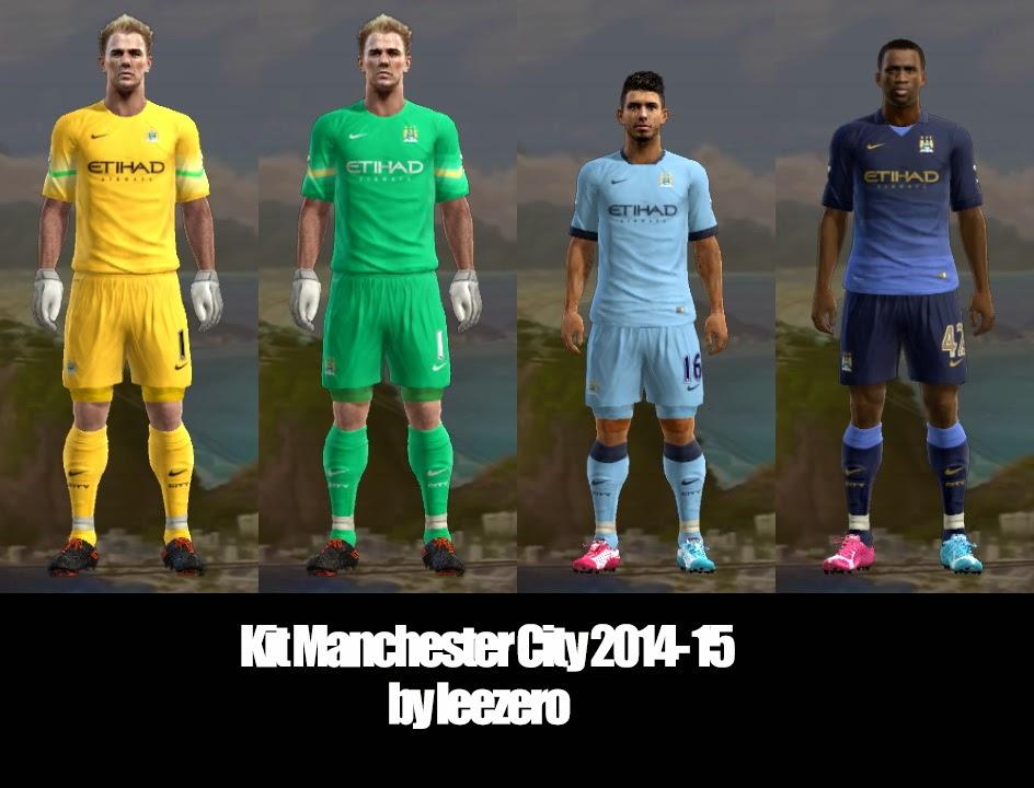 PES 2013 Manchester City 2014-15 Kits by leezero - the pes 2306ef74c