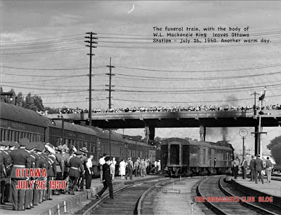 Mackenzie King's funeral train leaving Ottawa Station, July 26, 1950