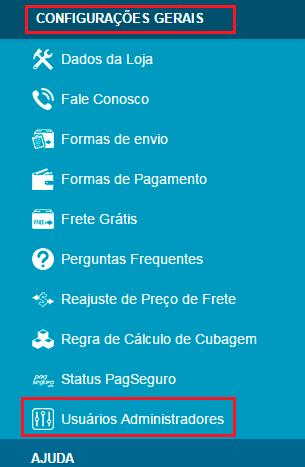 loja virtual uol host configurações gerais