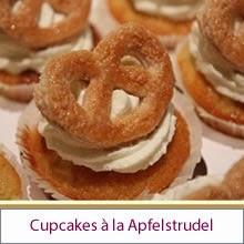 Bayrische Apfelstrudel-Cupcakes