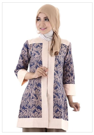 Gambar Baju Batik Muslim Kerja