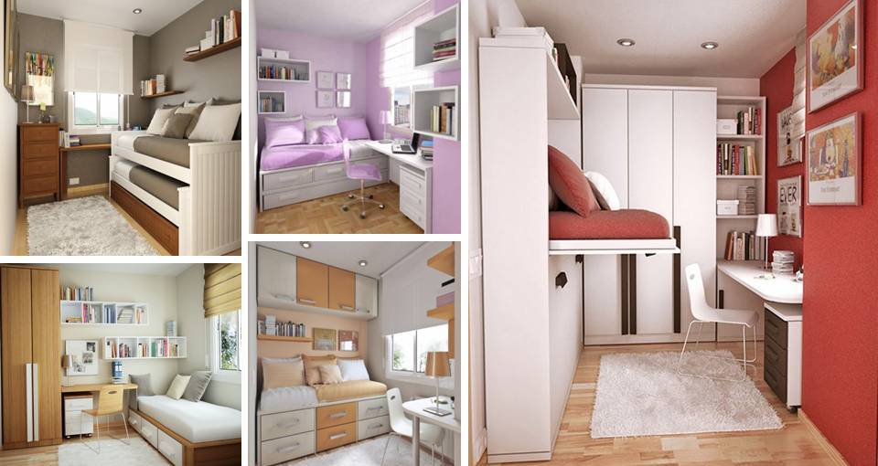 Gorgeous space saving ideas for small teenage desks - Space saving bedroom ideas ...