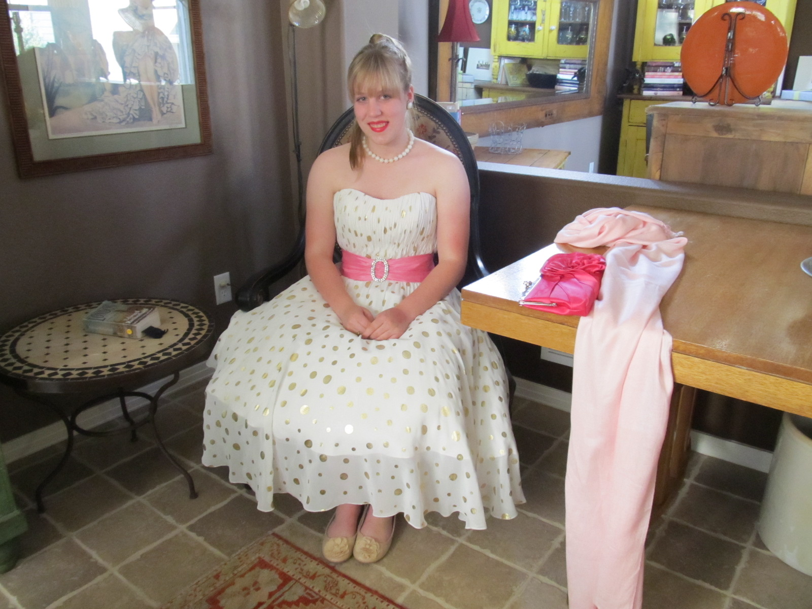 throw back rag my prom dress