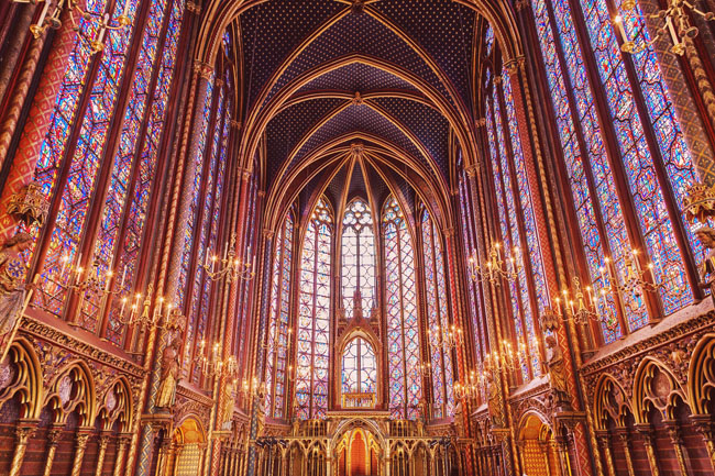 Most Instagrammable Places in Paris - Sainte Chapelle