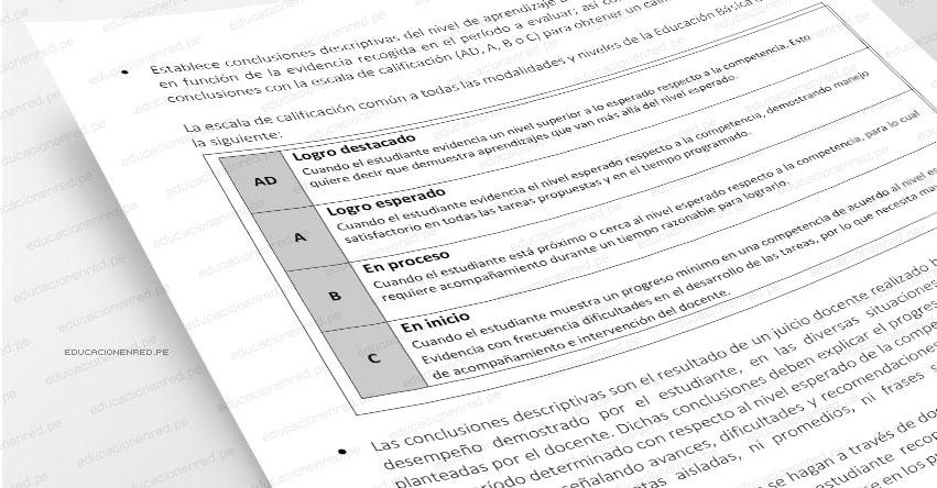 CURRÍCULO NACIONAL: Notas en libretas de secundaria se expresarán con letras y ya no con números
