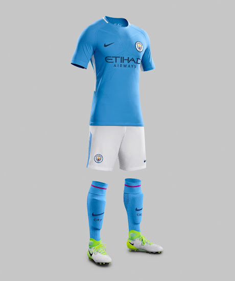 sale retailer 2cb0b fd54b Manchester City 17-18 Home, Away & Third Kits Revealed ...