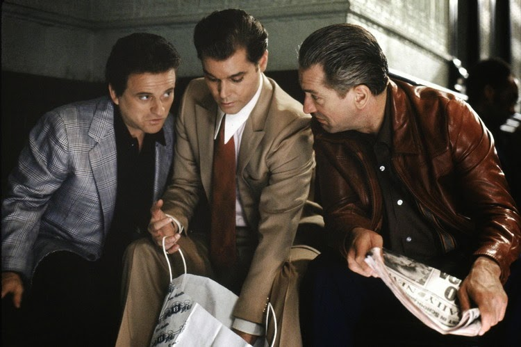 Joe Pesci, Robert De Niro, and Ray Liotta grab a score in Goodfellas