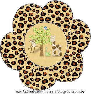 Tarjeta con forma de flor de La Selva de Juguete.
