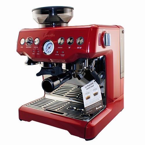 Breville BES870CBXL Barista Express Espresso Machine Cranberry Red ...
