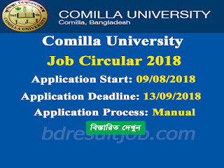 Comilla University Professor Recruitment Circular 2018