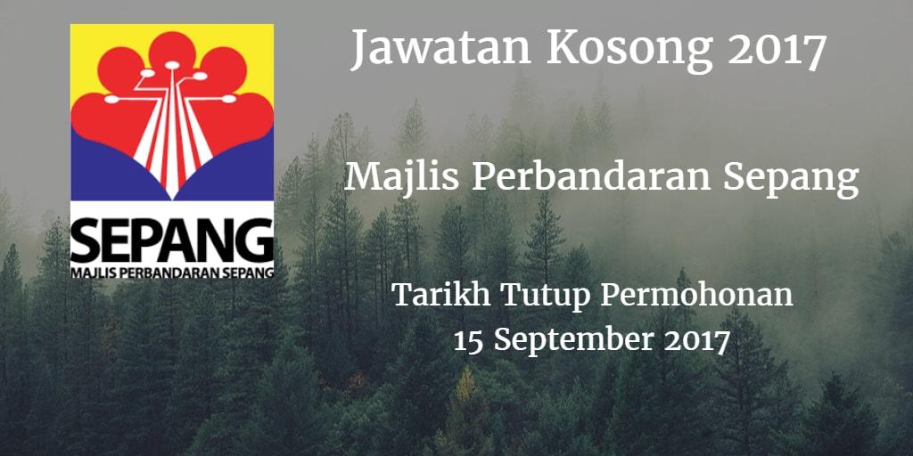 Jawatan Kosong MPSepang 15 September 2017