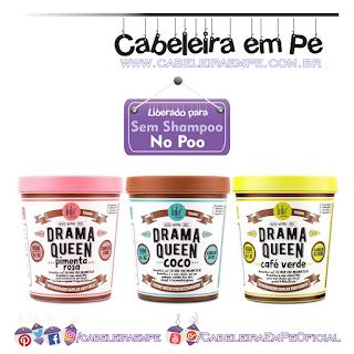 Máscaras Drama Queen - Lola Cosmetics - Pimenta Rosa, Coco e Café verde (liberadas para No Poo)