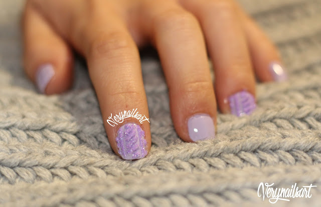 Uñas decoradas en 3D | Sweater nails