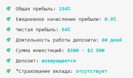 Инвестиционные планы Menthol 2