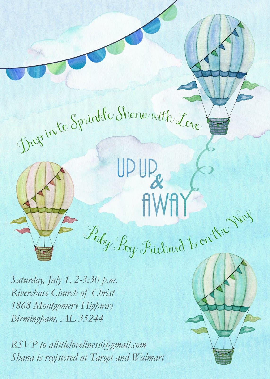 A Little Loveliness A Dreamy Hot Air Balloon Themed Baby Shower