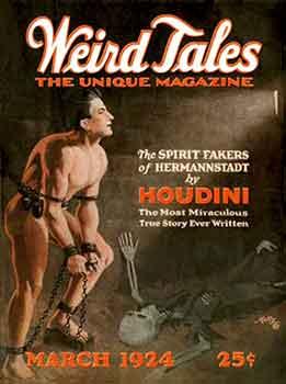 Portada Weird Tales Marzo 1924, la mítica revista pulp