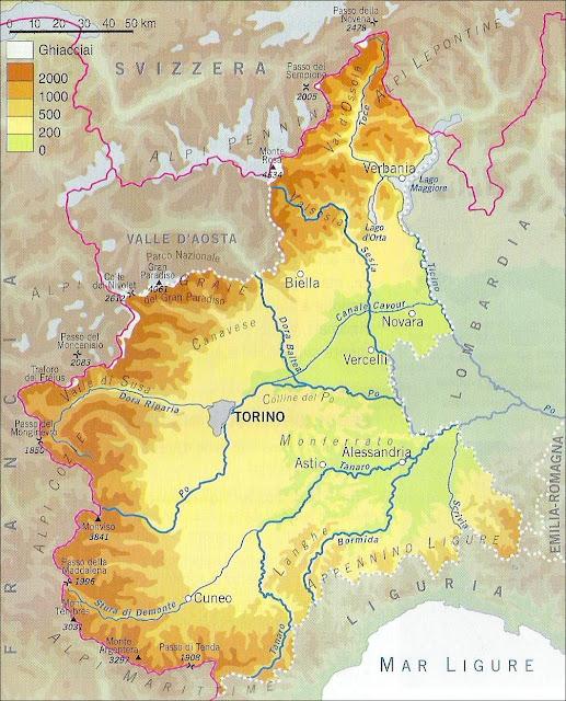 Fiumi Piemonte Cartina Tomveelers