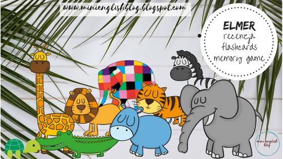 Elmer - bardzo mądry słonik w kratkę na zajęciach z języka angielskiego.
