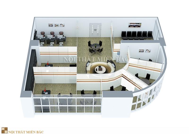 Thiết kế nội thất phòng làm việc nâng cao hình ảnh doanh nghiệp