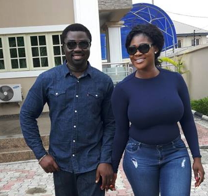 Image result for mercy johnson and husband