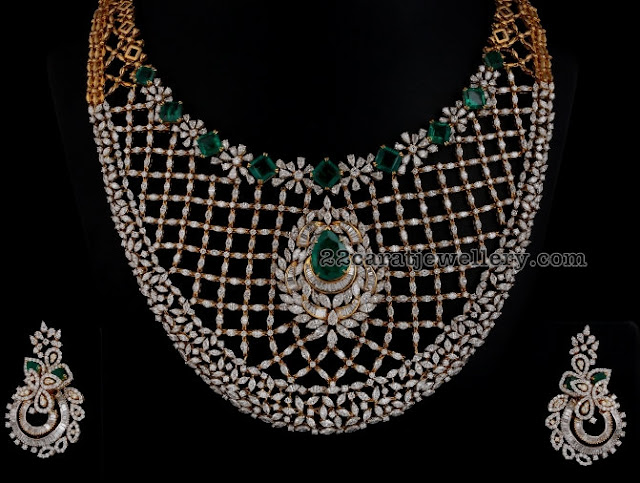 40lakhs Diamond Choker by Vummidi Jewellers