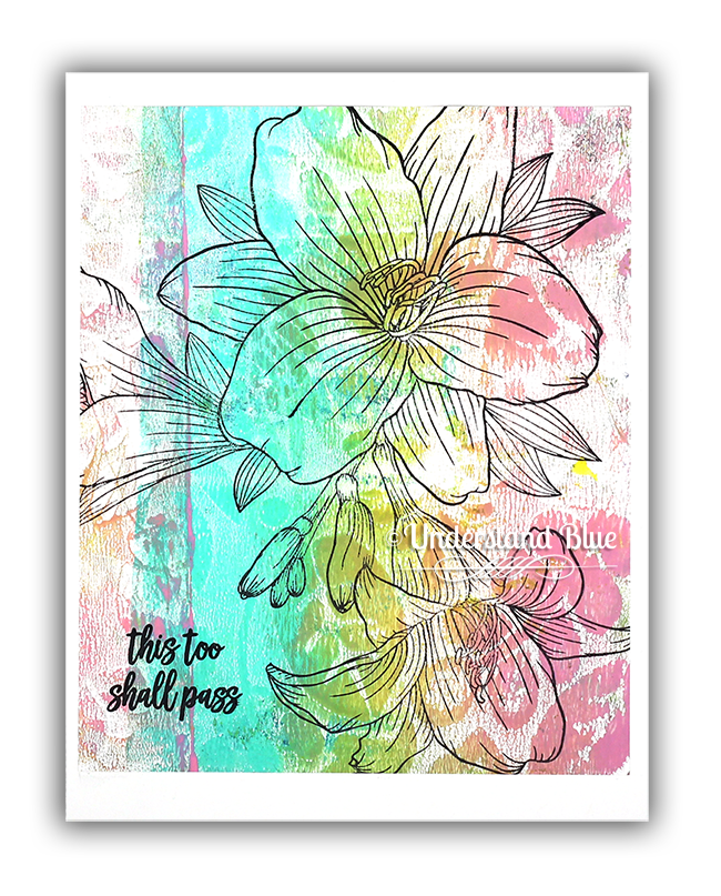 Lily Gel Press Card by Understand Blue