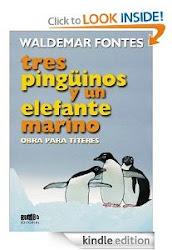 Tres pingüinos y un elefante marino