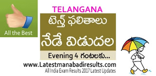 TS 10th Class Results 2017 @ Manabadi.com on 4 pm Check Now