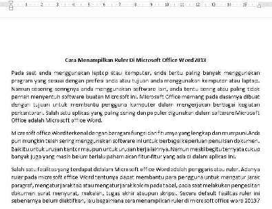 cara menampilkan ruler di microsoft office word 2013