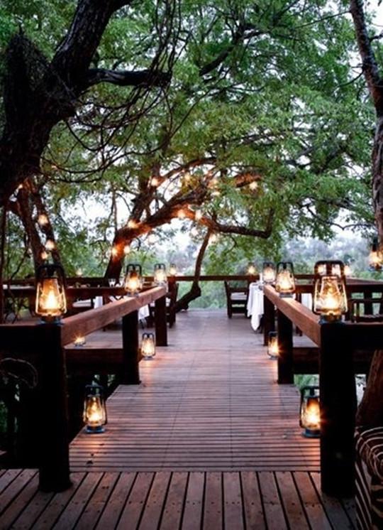 lighting decorations ideas for autumn wedding