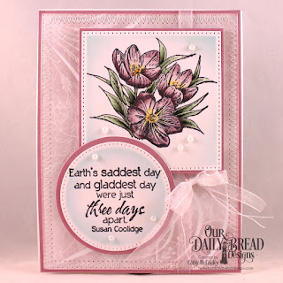Our Daily Bread Designs Stamp Set: Earth's Gladdest Day,Paper Collections: Shabby Rose, Shabby Pastels, Custom Dies: Pierced Rectangles, Pierced Circles, Circles